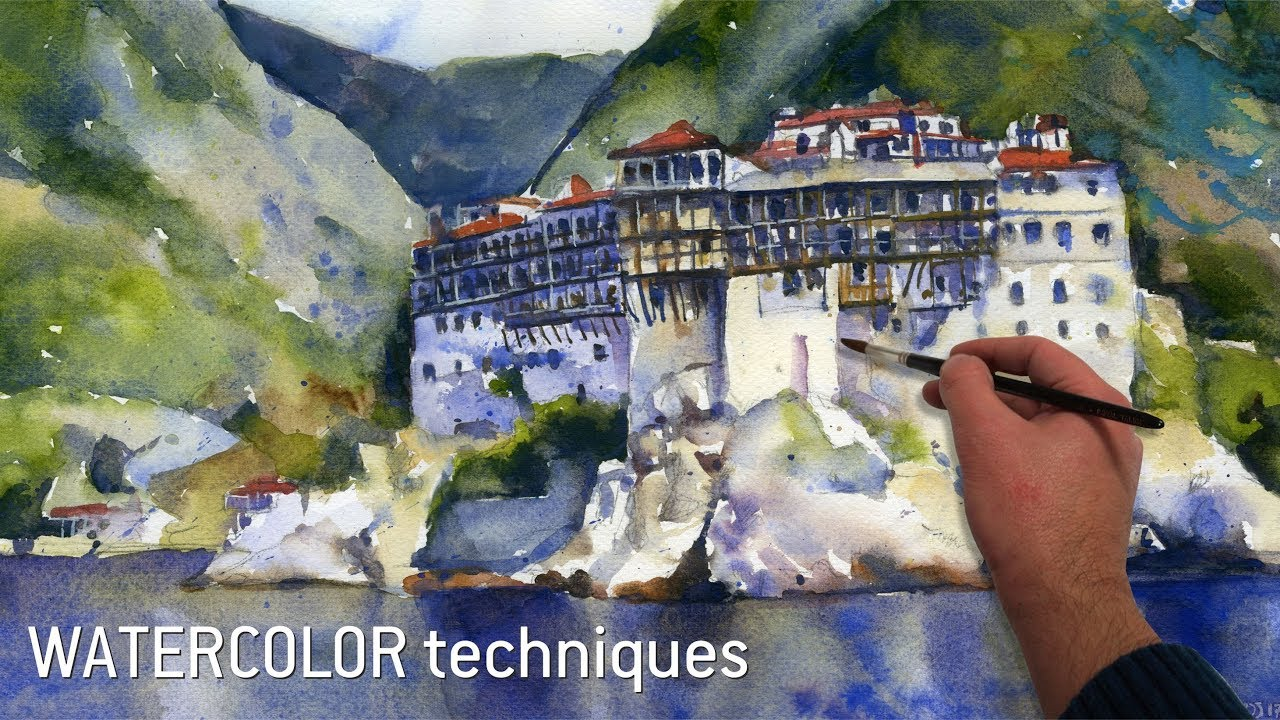Try this watercolor techniques - AMAZING Old Castle