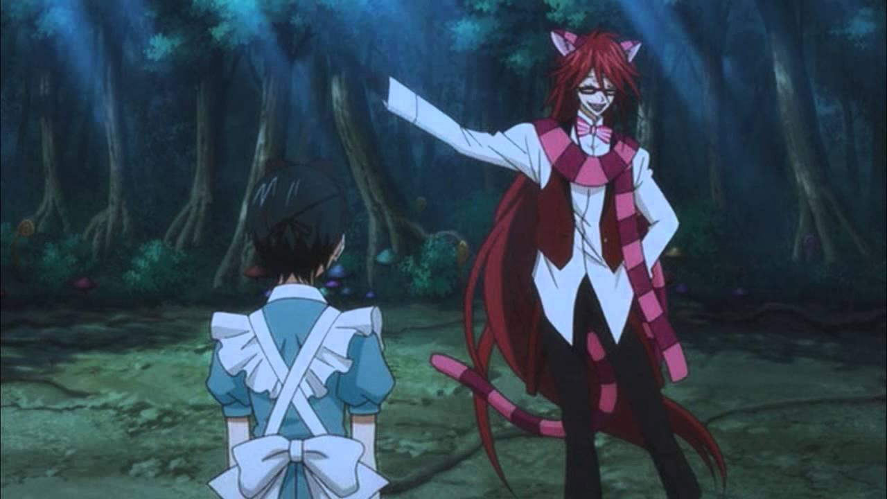 Ciel In Wonderland OVA Cheshire Grell Full Scene HD
