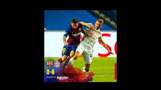 Bayern munich humiliating barcelona watch till the end and do remember to subscribe. thanks