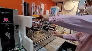 씨메05 커피머신 추출량 조절방법 입니다