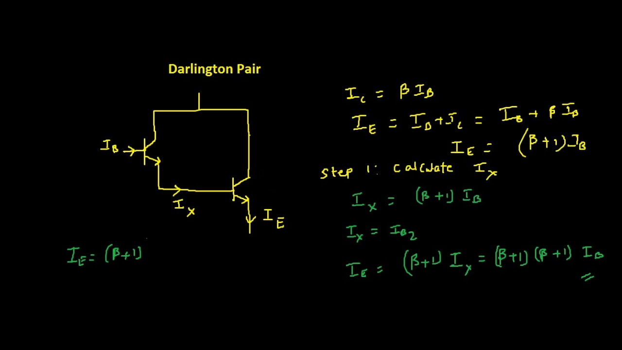 Darlington pair equation