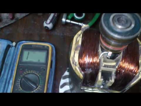 Как провреить якорь (ротор) генератора 5.5Квт.  Check 5.5kW generator armature.