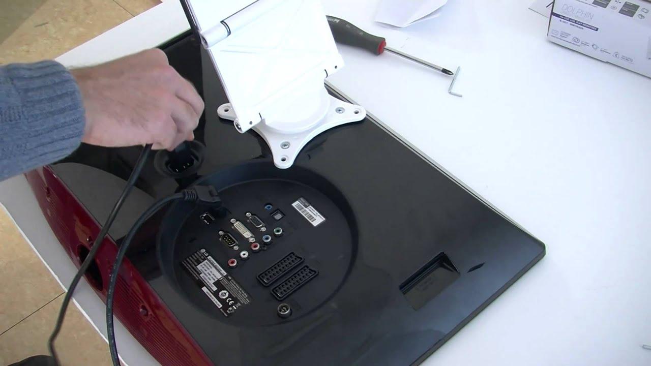 Porta Tv Lcd Da Muro.G Bl Video Di Montaggio Supporto Tv Mod Dolphin Single Arm
