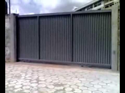 Port o deslizante industrial fabricado pela d 39 metal casa for Precio de chapas de 6 metros