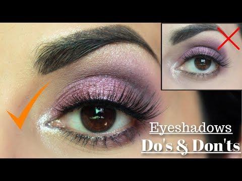 Eyeshadow DO'S & DON'TS | Urdu/Hindi