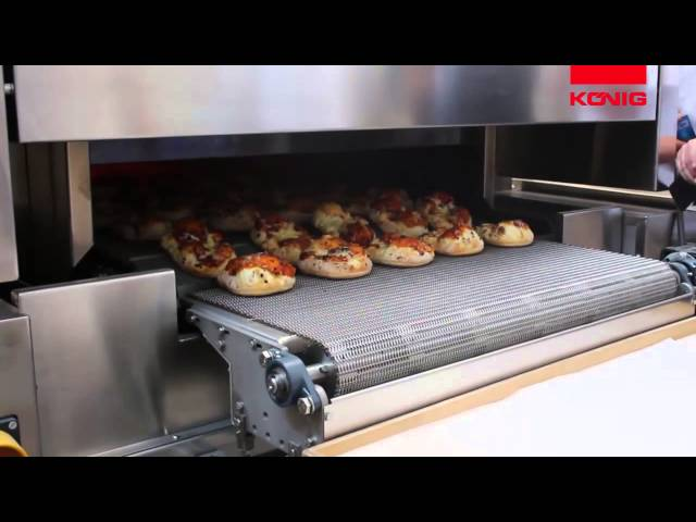 Koenig - SDD EOS - High temperature tunnel oven - Hochtemperatur Tunnelofen - pizza pieces