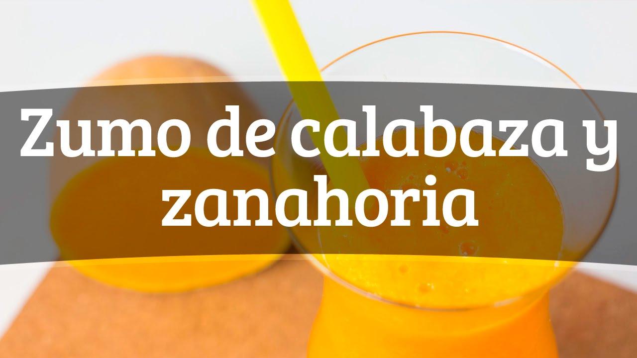 zumo de calabaza en licuadora