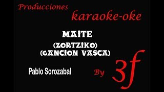 Maite Karaoke (Sorozabal)