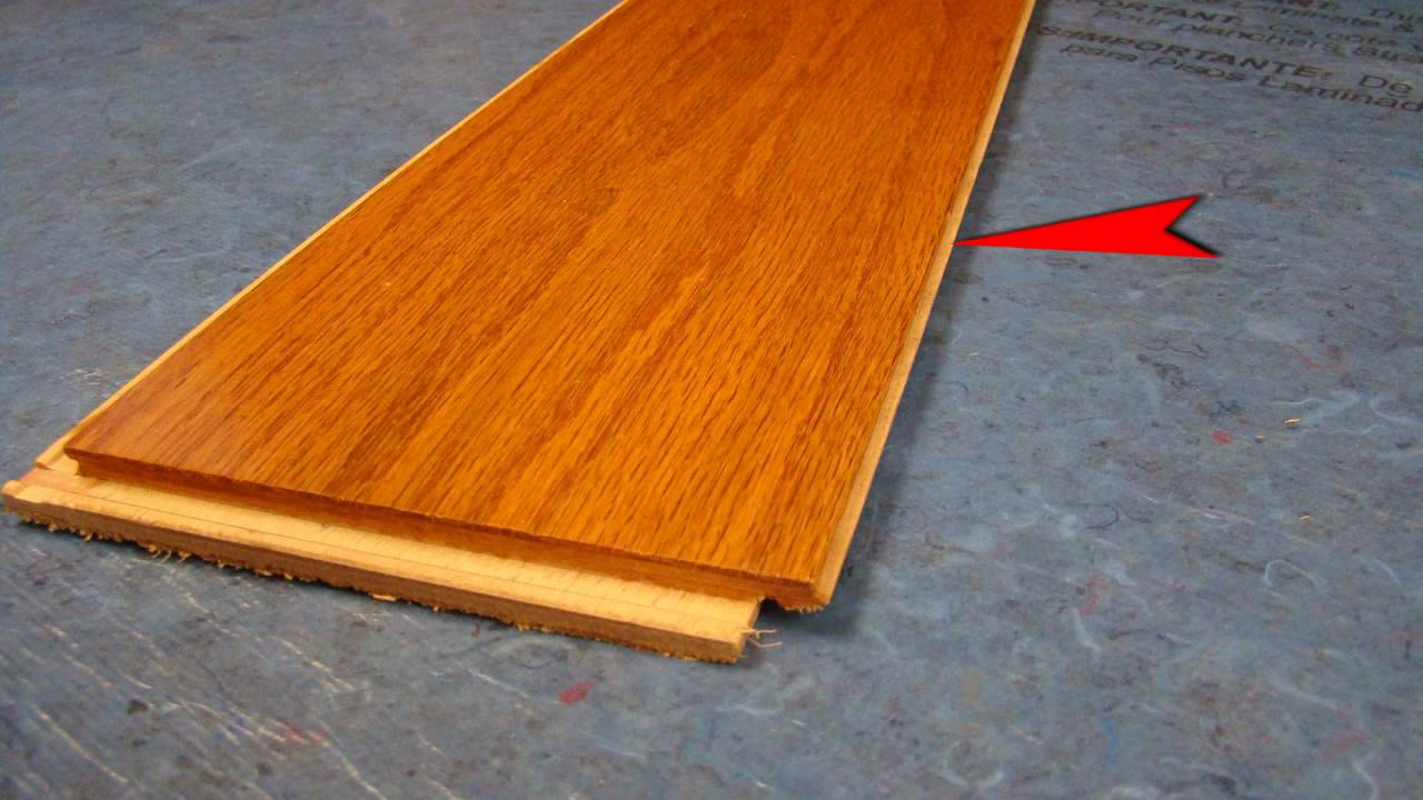 Bruce lock and fold hardwood flooring video youtube for Wood floor snap lock