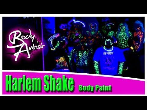 Body Artist - Harlem Shake Body Paint / Black Light Paint