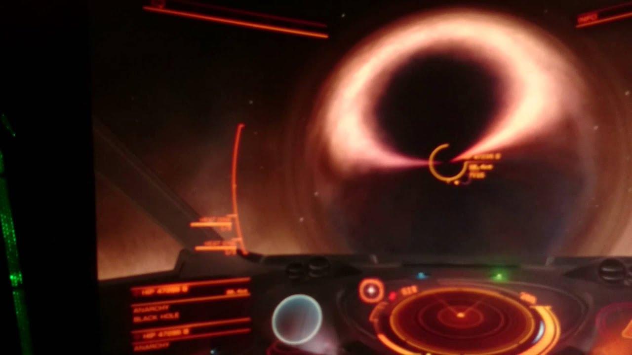Elite Dangerous Black hole,70km away. HD - YouTube