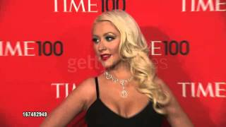 Christina Aguilera - Red Carpet Time 100 Gala