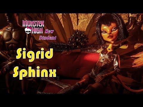 Sigrid Sphinx new Monster High Student!! Toralei Repaint female doll ooak