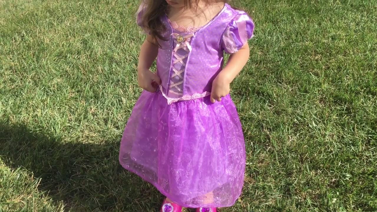 Dress Rapunzel Princesa De Princess traje And Shoes Disney La fgxzqwEv