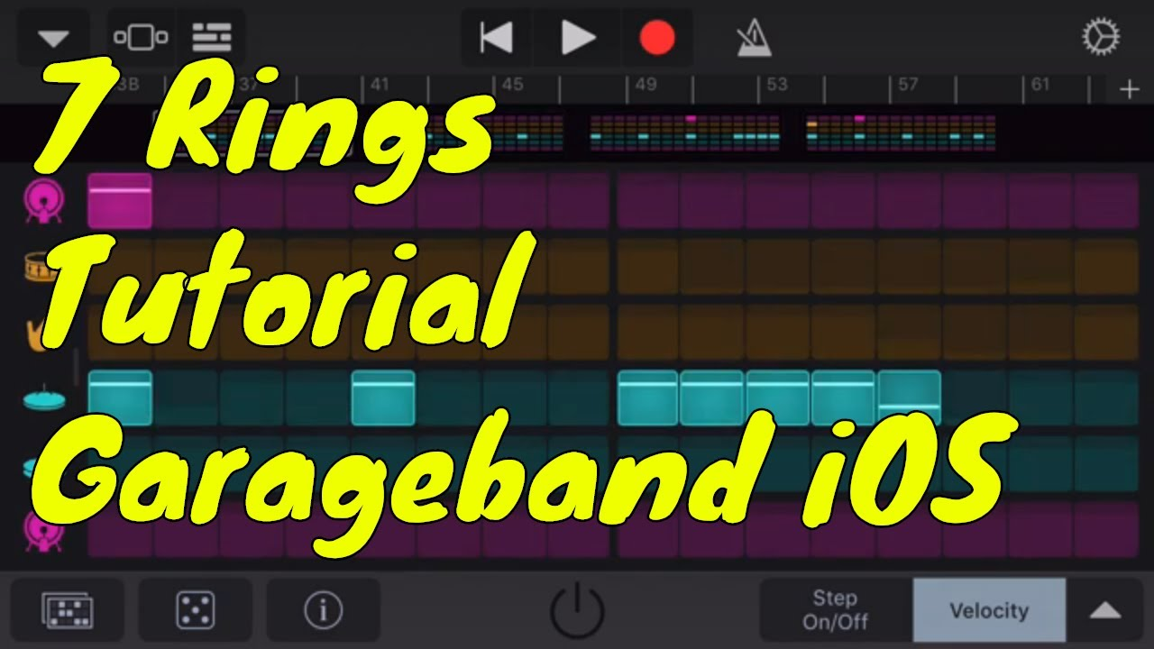 Fan Garageband Ariana Grande 7 Rings Garageband Iphone Tutorial