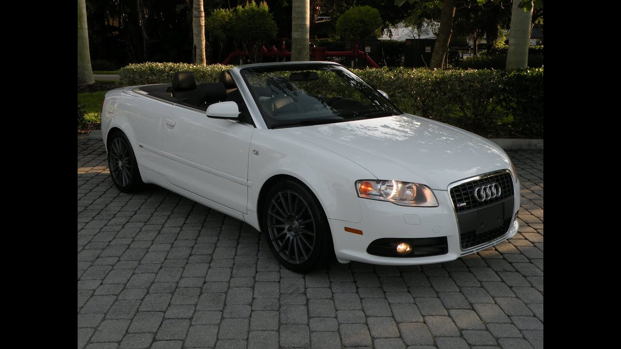 2007 Audi A4 20t Convertible For Sale In Fort Myers Fl Youtube