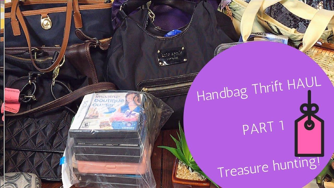 a71a64f03 Thrift & Garage Sale Haul Handbags Kate Spade Kors Designer Part 1 ...