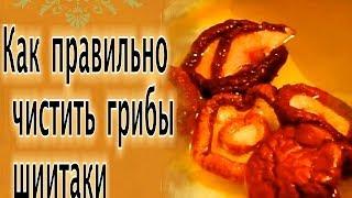как правильно чистить грибы шиитаки How to properly clean shiitake