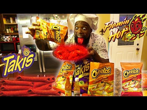 FLAMIN HOT CHEETOS & HOT TAKIS FRIED CHICKEN WINGS! COOKING DIY