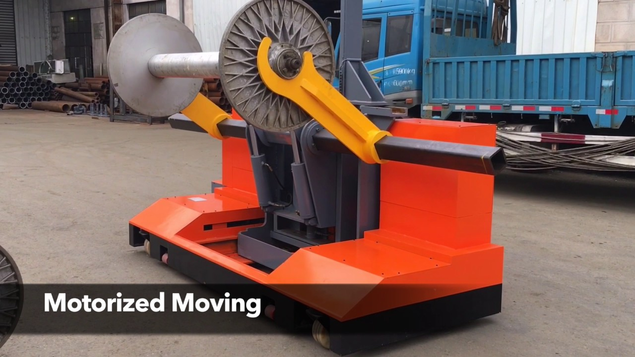 Motorized Warp Beam High Lifting Trolley For Terry Towel