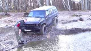 1995 Tahoe in the river