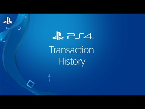 Viewing Transaction History on a PS4 system - YouTube