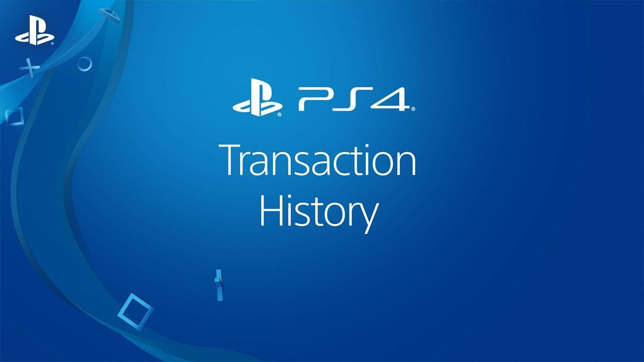 Viewing Transaction History on a PS4 system