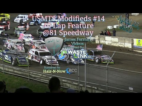 (USMTS) Modifieds #17, 40 Lap Feature, 81 Speedway, 04/25/19