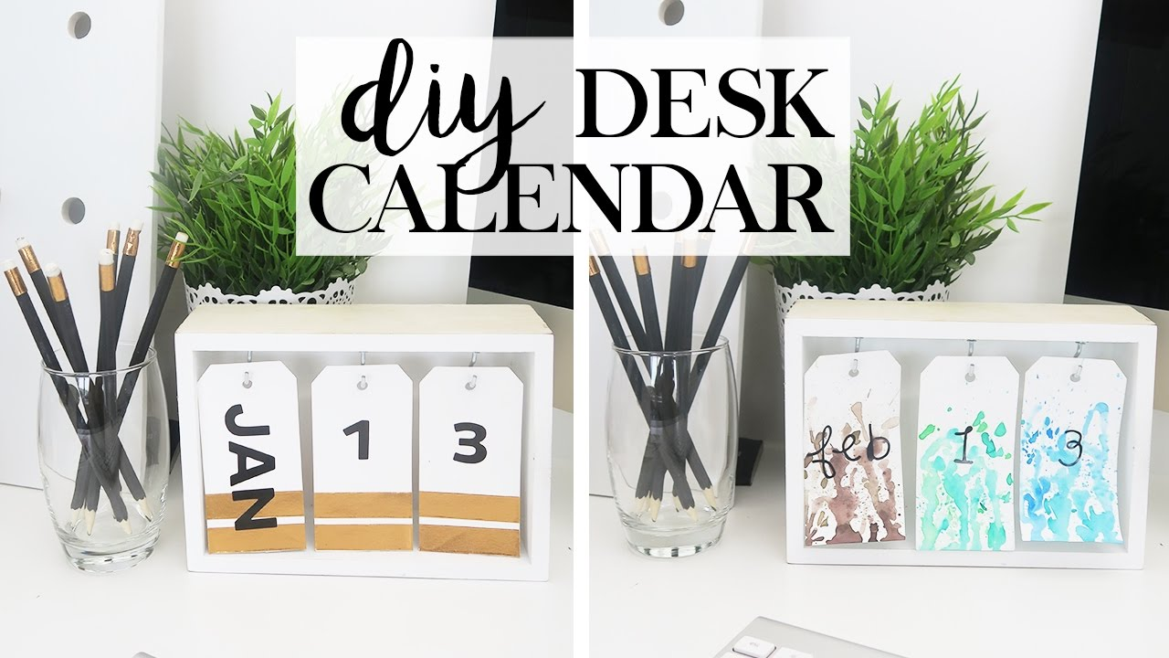Diy Calendar Desk Home Inteior Inspiration