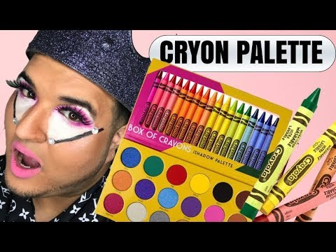 box of crayons makeup eyeshadow review youtube