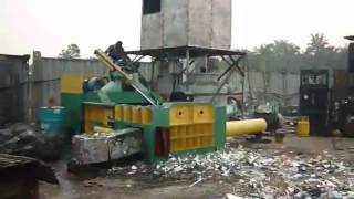 High quality Y81T-1600 Automatic scrap metal baler machine used in Malaysia!!!