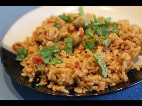 Cooking: Creamy Peanut Chicken Rice