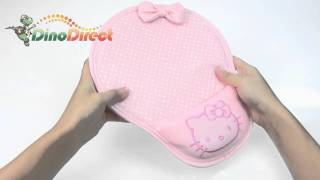 Hello Kitty Round Solid Wrist Rest Pillow Leather Mouse Pad  from Dinodirect.com
