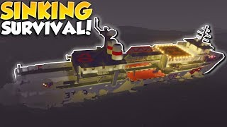 CRASH & SINKING SHIP SURVIVAL! - Stormworks: Build and Rescue Multiplayer Gameplay