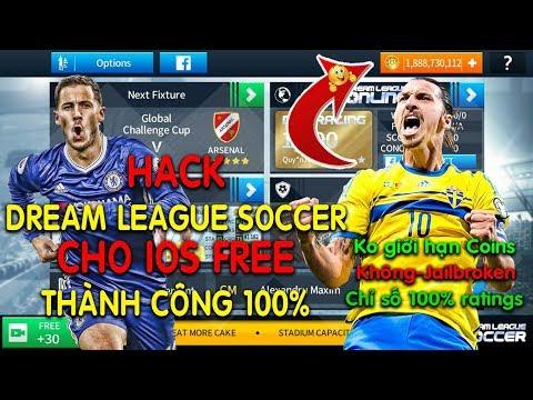 tải dream league soccer 2018 hack full 100 - HƯỚNG DẪN HACK GAME DREAM LEAGUE SOCCER 2018 CHO IOS FULL COIN, THÀNH CÔNG 100%, NON-JAILBROKEN