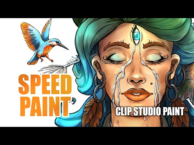 SPEEDPAINT - In The River, Full creation process timelapse in Clip Studio Paint (Lineart | Painting)