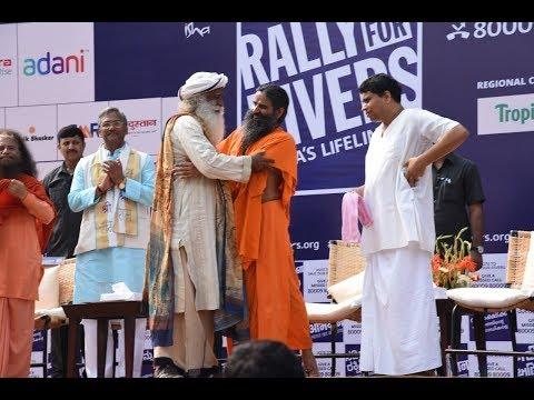 Best Moments of Sadhguru and Baba Ramdev in Haridwar (with English translation)