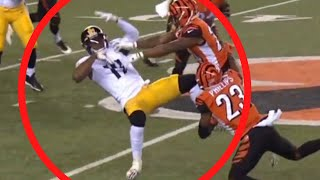 JuJu Smith-Schuster (MASSIVE HIT) ABSOLUTELY DESTROYED