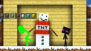 Stickman vs Minecraft: Enderman - Minecraft Animation