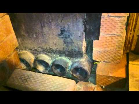 Печь для бани с теплым предбанником из металла
