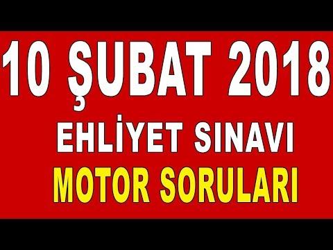 10 Şubat 2018 Ehliyet Sınavı Motor Soruları ve Cevapları
