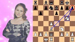 Judit Polgár's beautiful attacking idea vs Ferenc Berkes | 2003