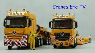 NZG Mercedes-Benz Actros and Arocs SLT + Nooteboom Trailers by Cranes Etc TV