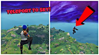 How To Teleport To The Sky In Fortnite (New) Fortnite Glitches Season 6 Ps4/Xbox one 2018