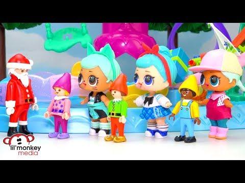 🎄 LOL Surprise Baby Dolls Visit Santa's Workshop!!