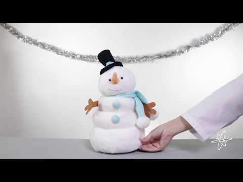 Snowman Singing Dancing Animated Plush – Color Changing Lights