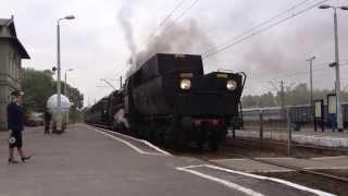 Dożynki prezydenckie 2013, pociąg retro, pod parą Ty42-107