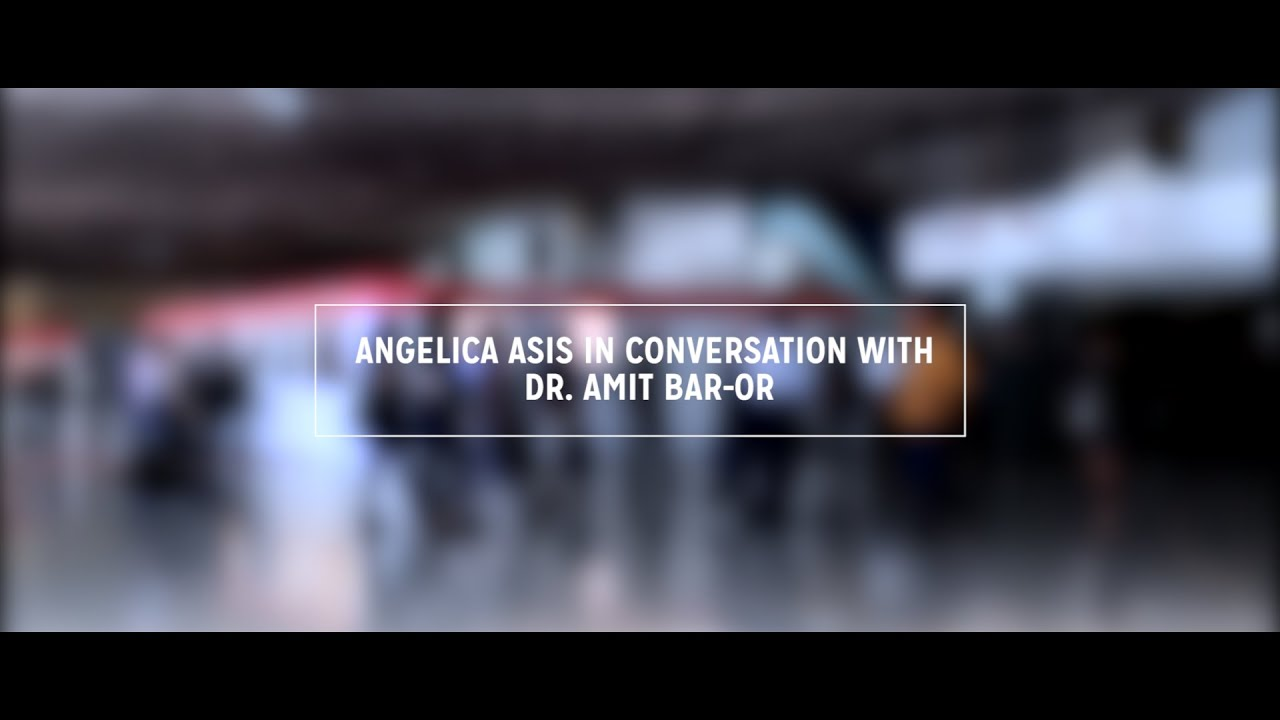 ECTRIMS2015 Angelica Asis in conversation with Dr Amit Bar