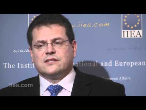 Maros Sefcovic on Dealing with the Crisis -- the Strength of the European Approach