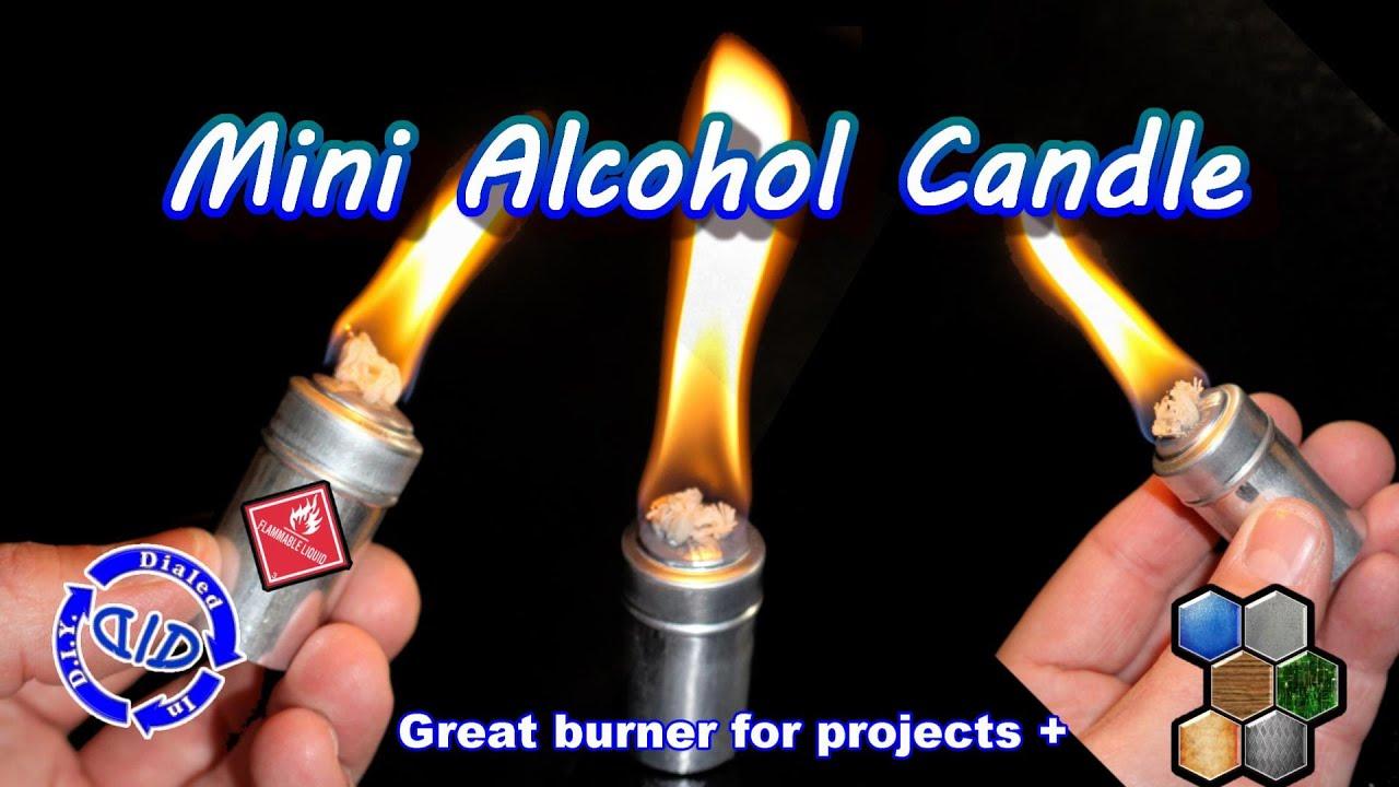 Make an Alcohol Candle - DIY Alcohol Burner - YouTube